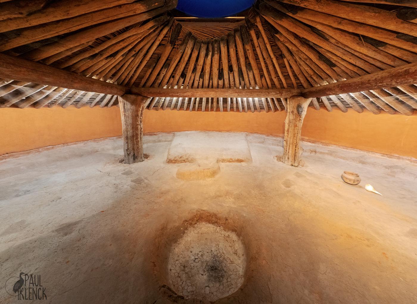 Earth Lodge interior