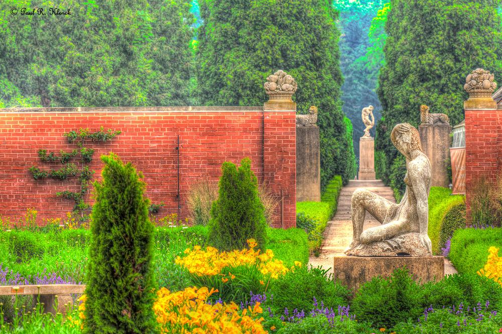 Looking through the Brick Walled Garden to Adam