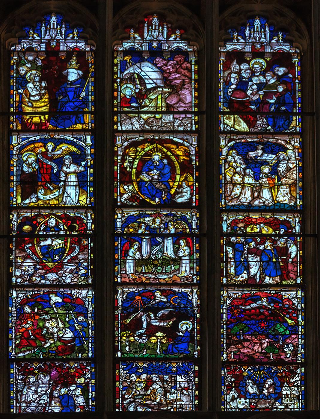 East window, restored 2016