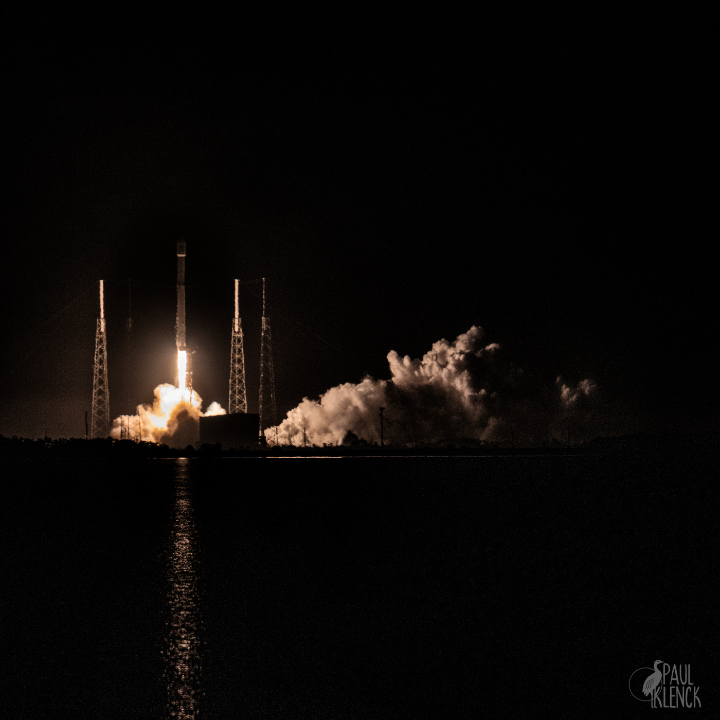 Space X night launch