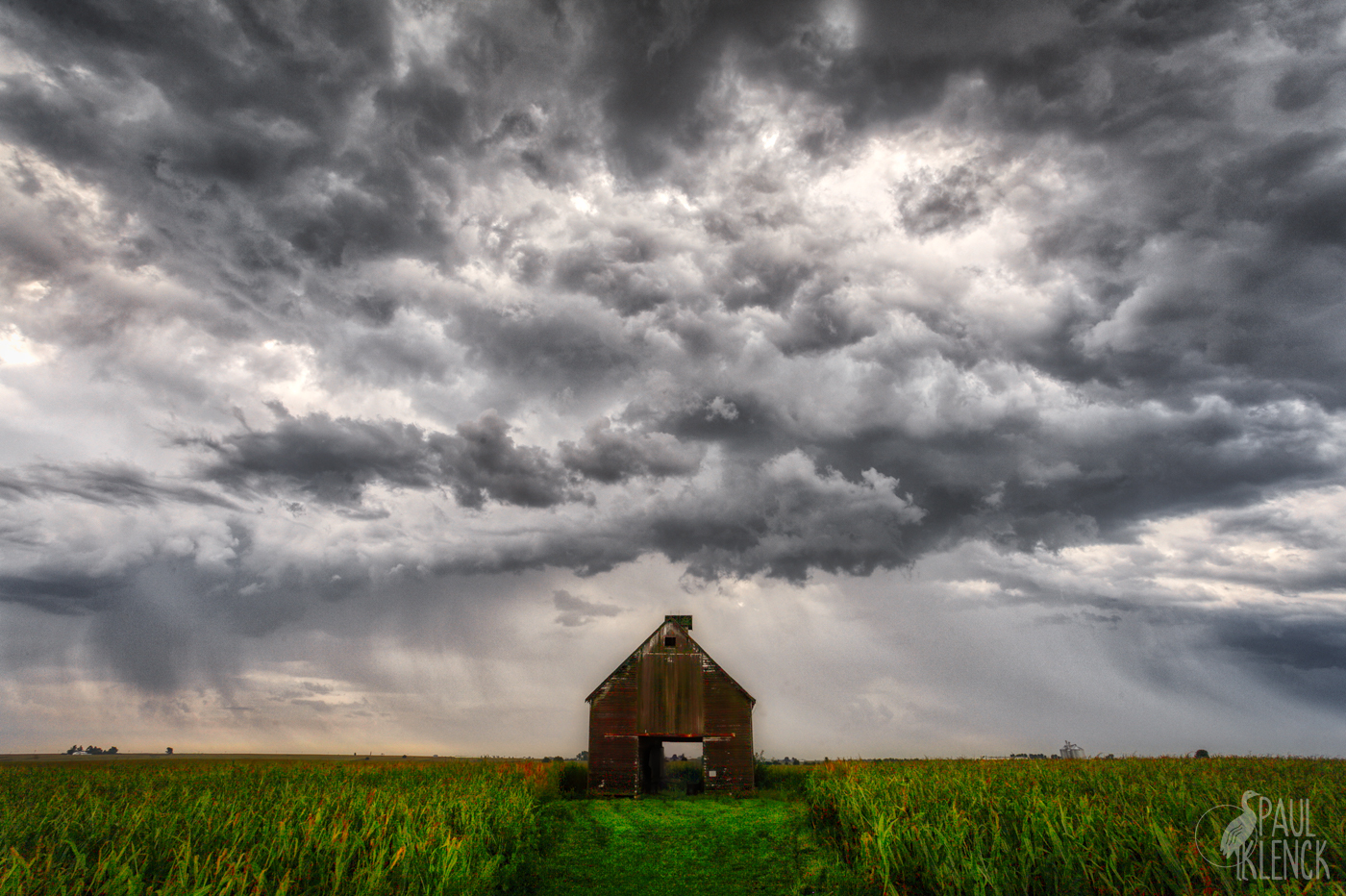 Storm clouds over the crib
