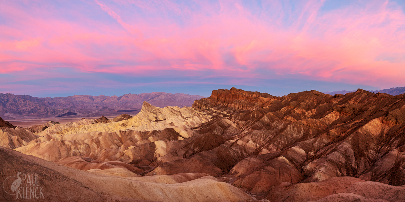 Dawn at Zabriskie Point, Death Valley National Park, California