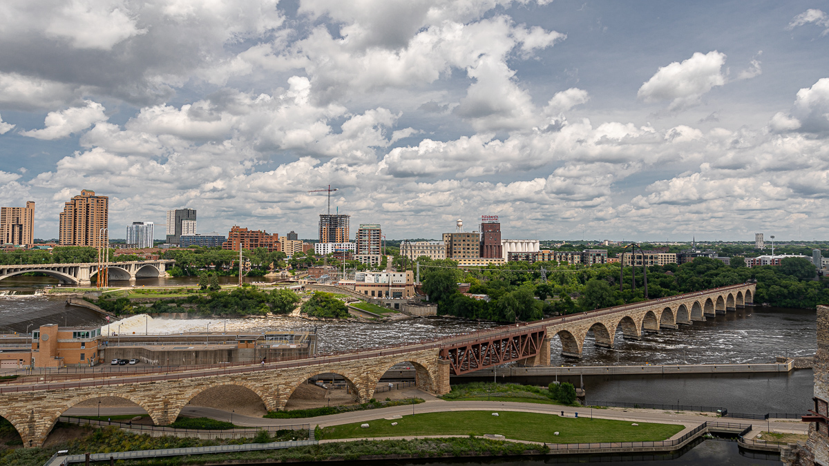 Stone Arch Bridge with St. Anthony Falls
