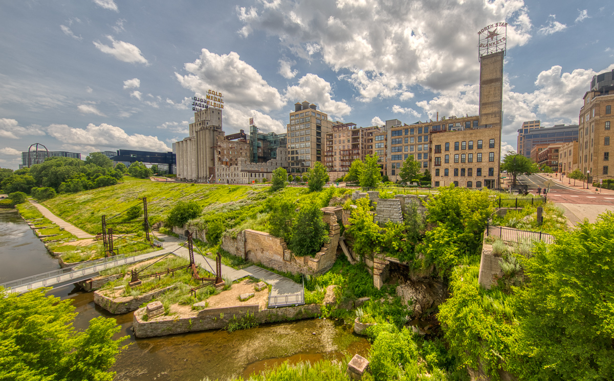 Mill City Museum from the Stone Arch bridge