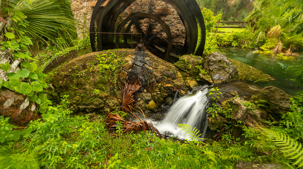 Juniper Springs Waterwheel and spillway