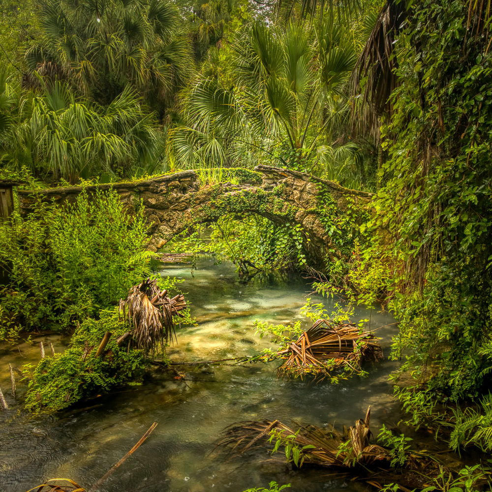 Stone bridge, Juniper Springs