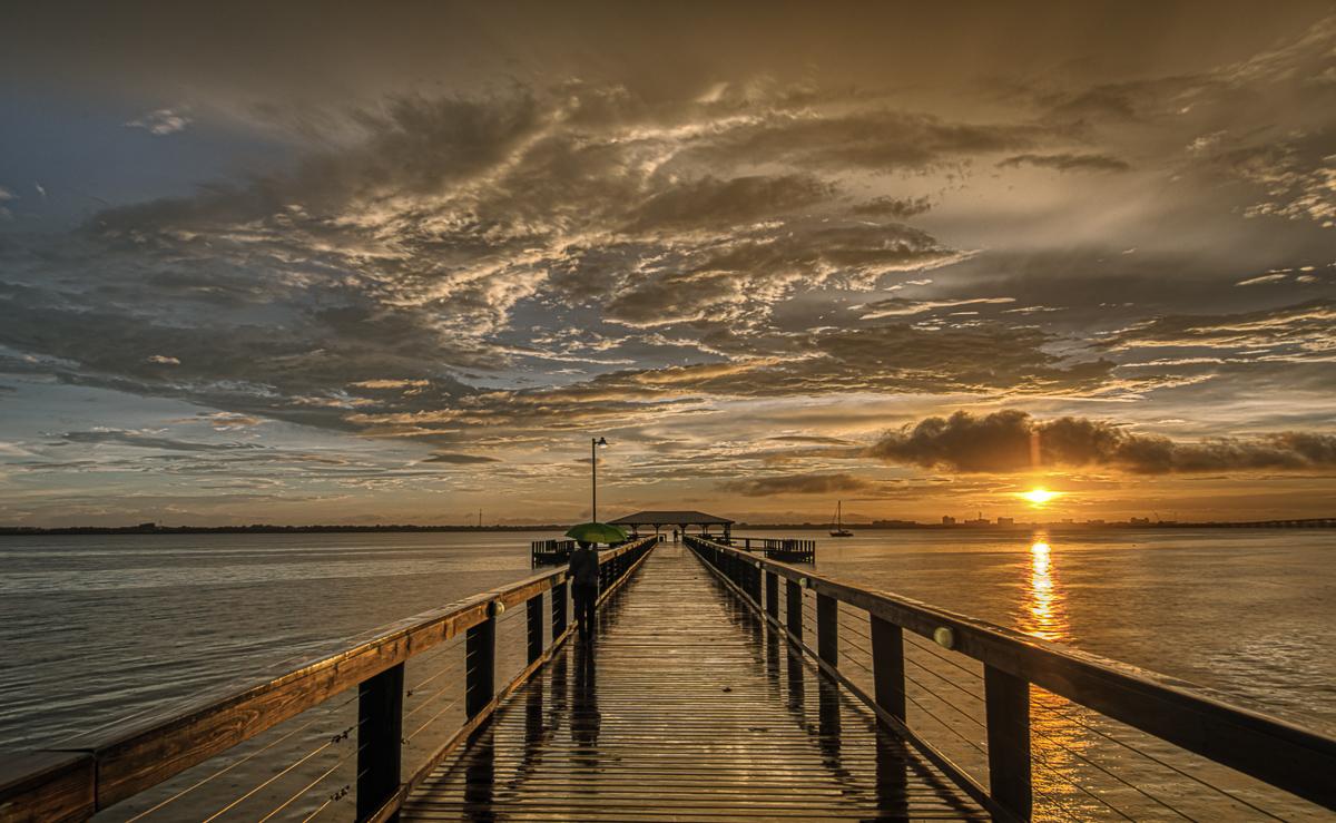 Melbourne Beach Pier, Indian RIver Lagoon
