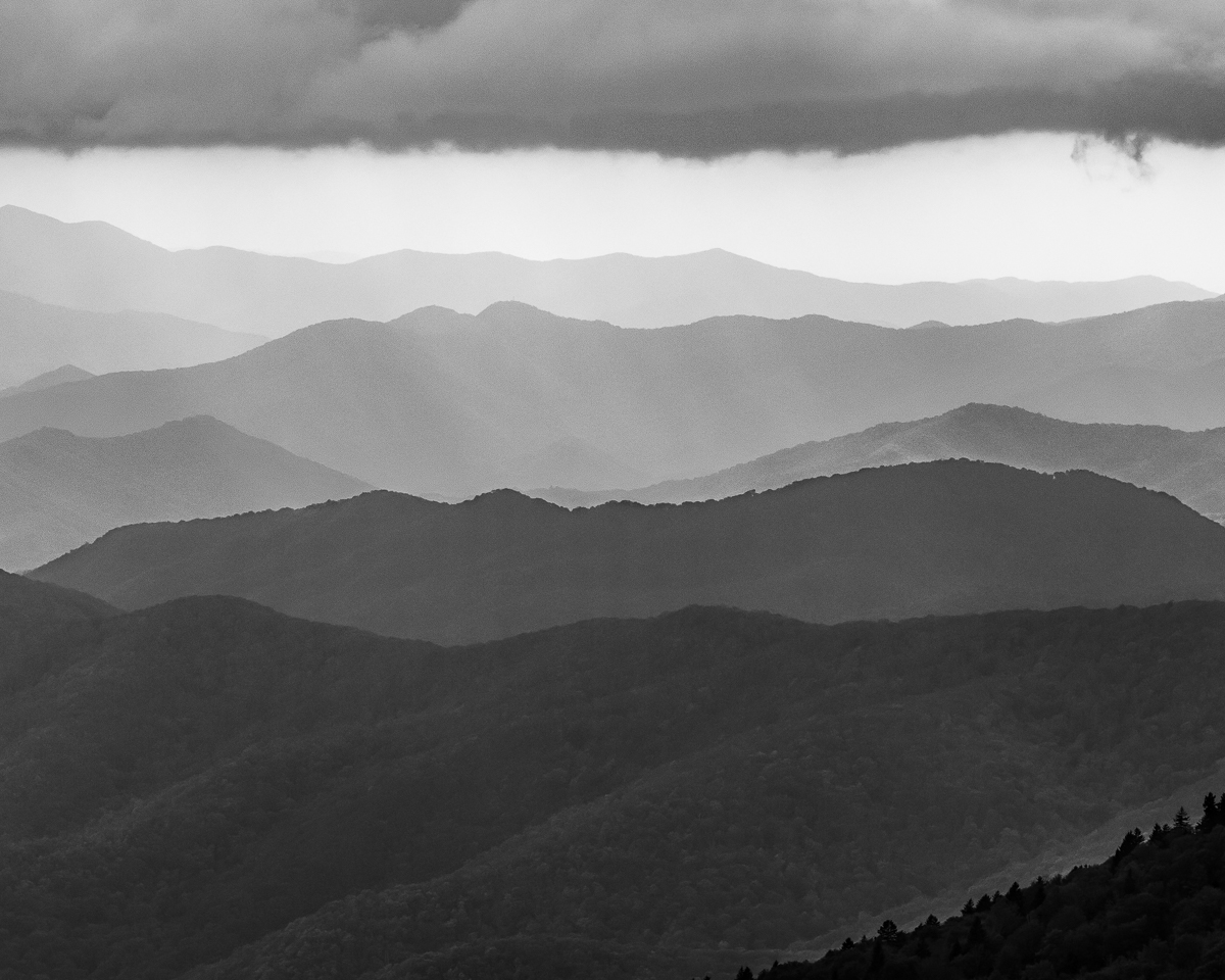 View from Clingman's Dome on the border of Tennessee and North Carolina, Great Smoky Mountains