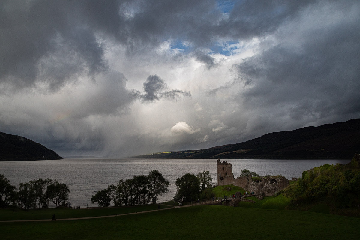 Loch Ness from above Urquhart Castle