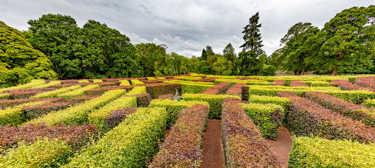 Scone Palace Star maze