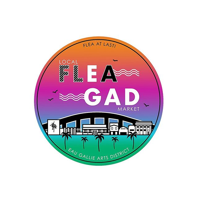 Had fun designing and being colorful with this logo for @fleagad.market June Logo!  Wanted to capture the arts district by including @yogagardenfl (where it all takes place) the @foosanerartmuseum, surrounding buildings, and the Eau Gallie Causeway and river that sit behind it.  The colors are pulled  from the beautiful sunsets here in #florida, the water and greenery.  #melbournefl #eaugallieartsdistrict #logo #womengraphicdesigners #graphicdesign