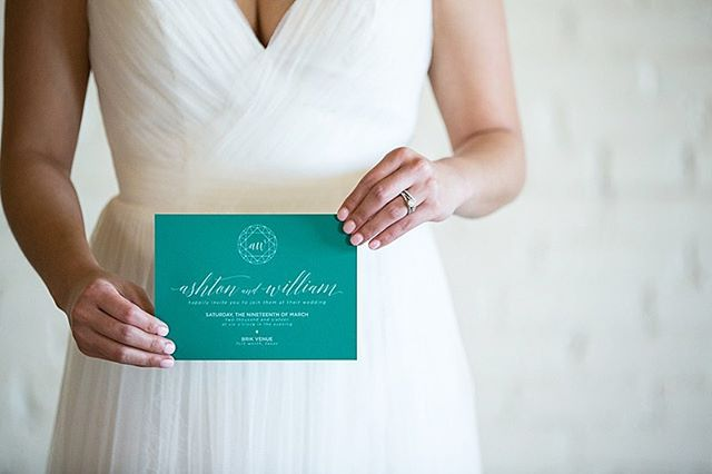 One of my favorite shots, is the bride holding the invitation ❤️ throwing back to this styled shoot @brikvenue photographed by @peyronetphotography  Just got to do my first styled shoot here in Florida, and can't wait to share!