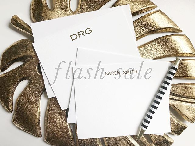 FLASH SALE! 48 hours only* Personal note cards are 40% off  get a head start on holiday presents. Cotton paper with gold or silver foil. Multiple type sets available. Original price starting at $135 email hello@lovebettydesign for details and to order. Ends 7/24 midnight east coast time #notecards #flashsale #stationery #giftsforher #giftsforher