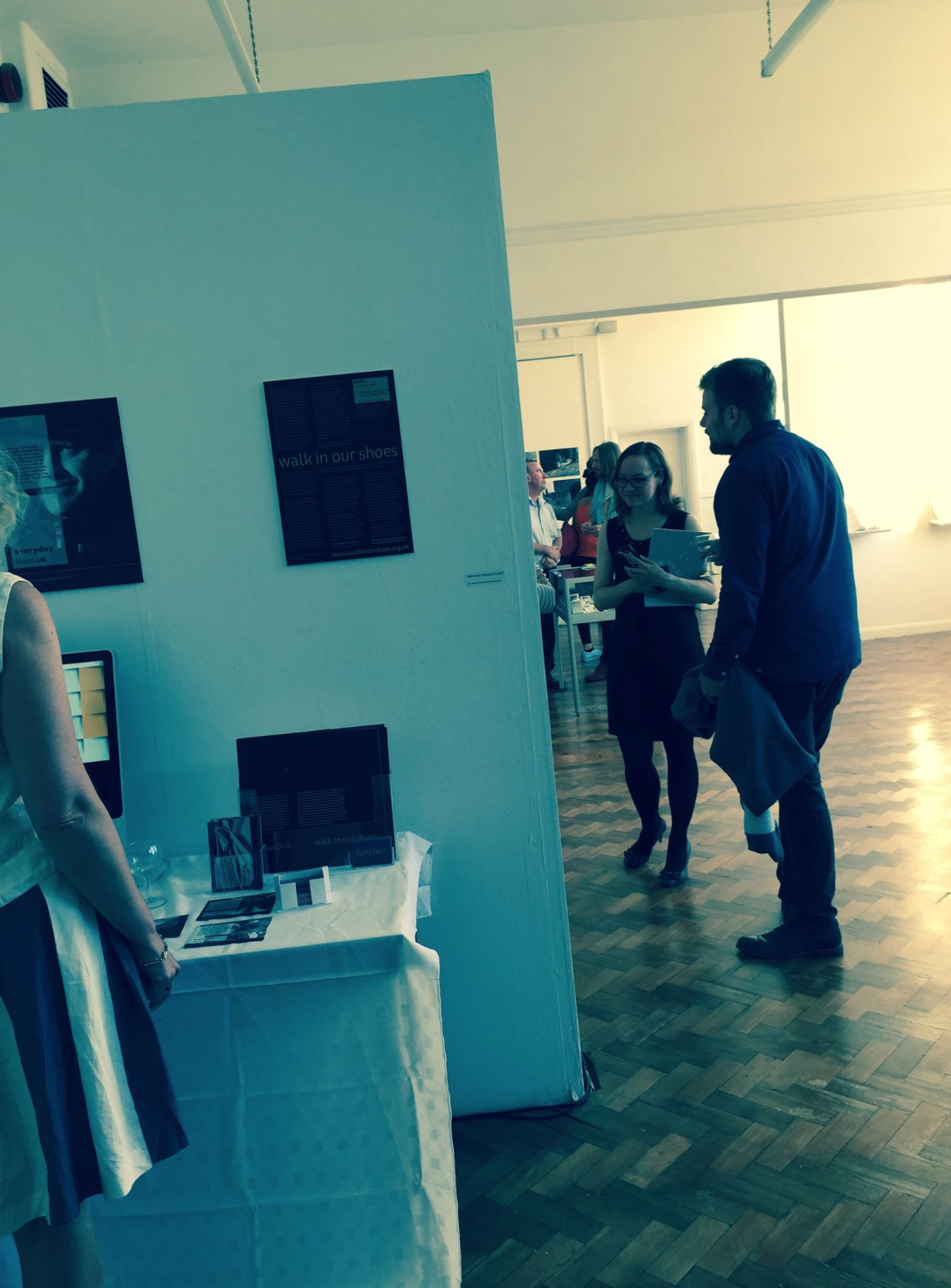 Walk In Our Shoes, exhibiting at The Cambridge School of Art, Sept 2015