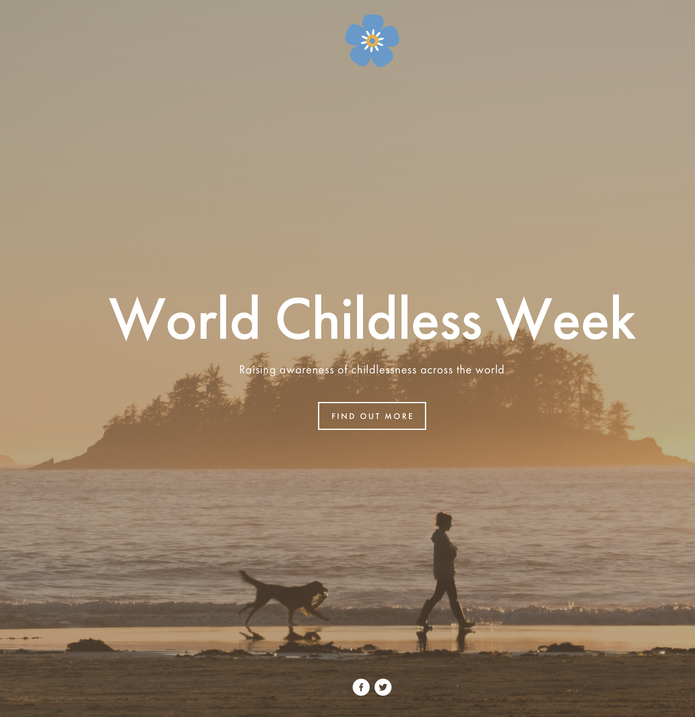 The new World Childless Week website cover page