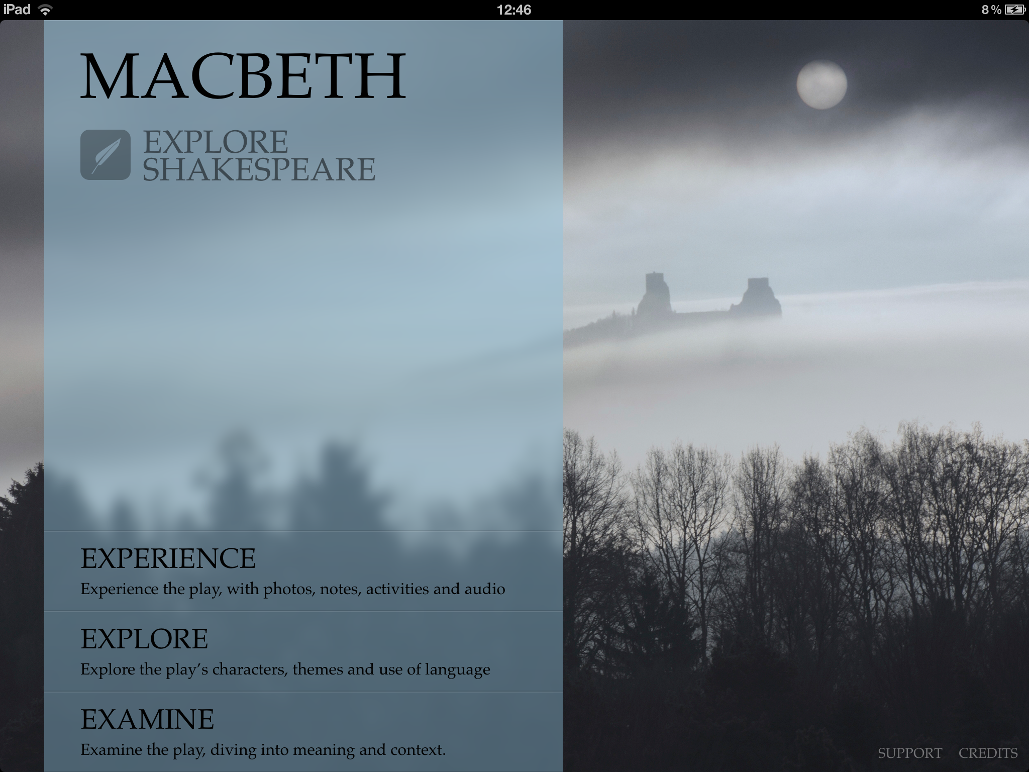 Macbeth Home screen.png