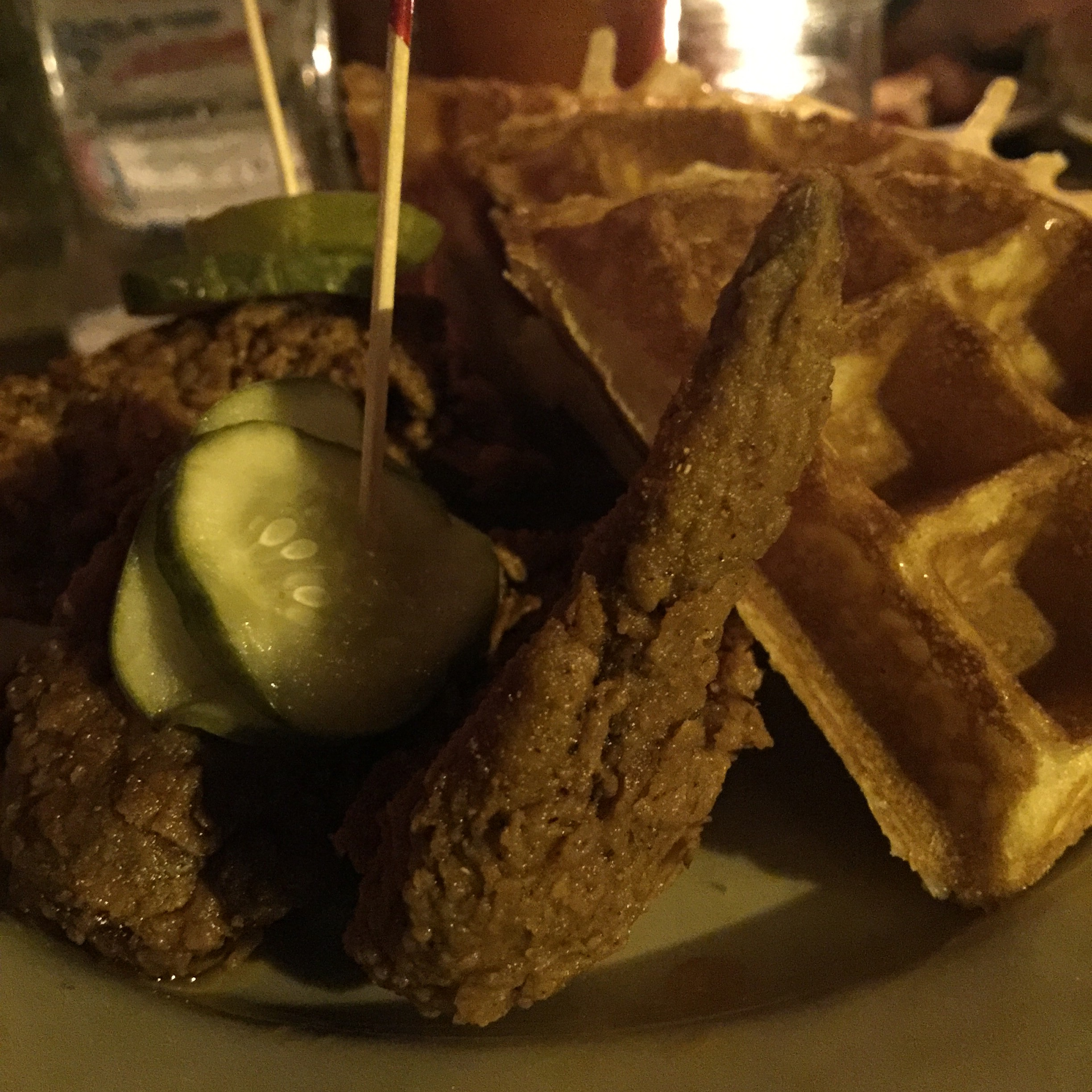 Nashville Hot Chicken and Milk Jam Waffle