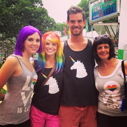 First PRIDE with my brother, bestie and mom.