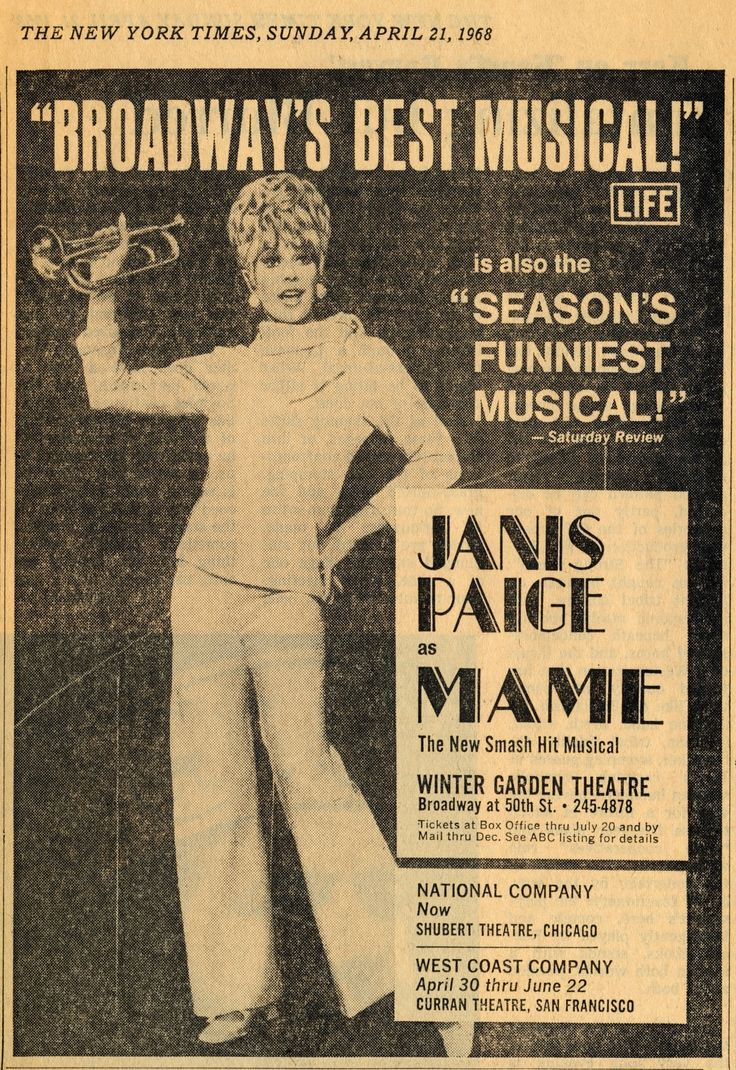 Janis Paige as 'Mame'