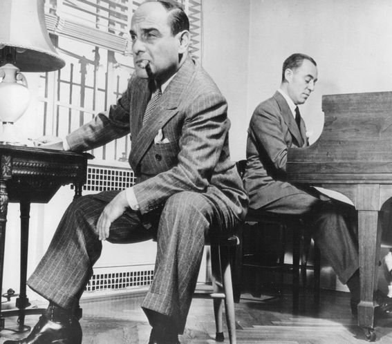 """Lorenz """"Larry"""" Hart and Richard Rodgers at work."""
