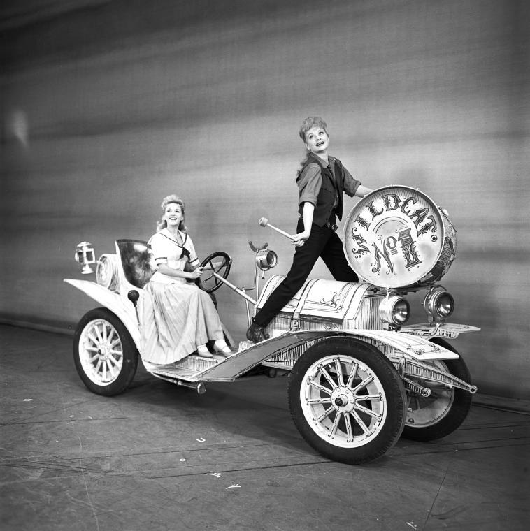 "Paula Stewart and Lucille Ball in  ""Wildcat"""