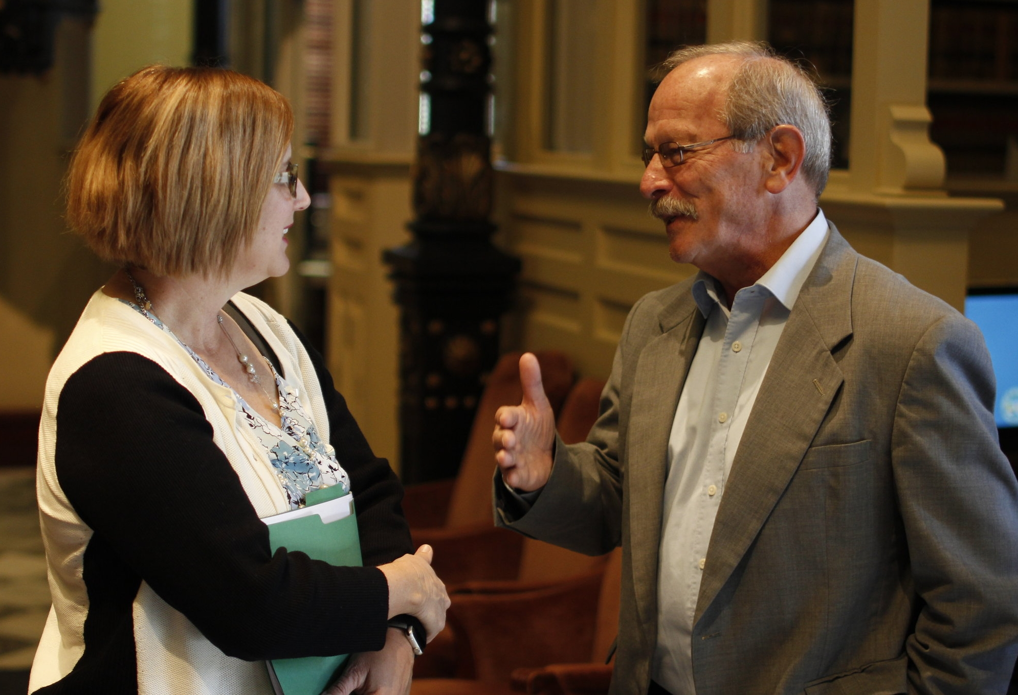 Don Caughman + Jackie Richards at the South Carolina Statehouse during a Palmetto Council for Internationals (PCIV) event.