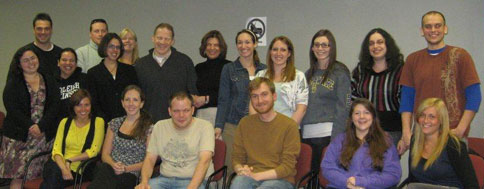 Professor Maria DiBattista with students and faculty at Montclair State University, April 20, 2010