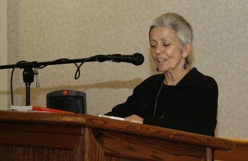 Poet Paula Meehan reading at Montclair State, October 15, 2009