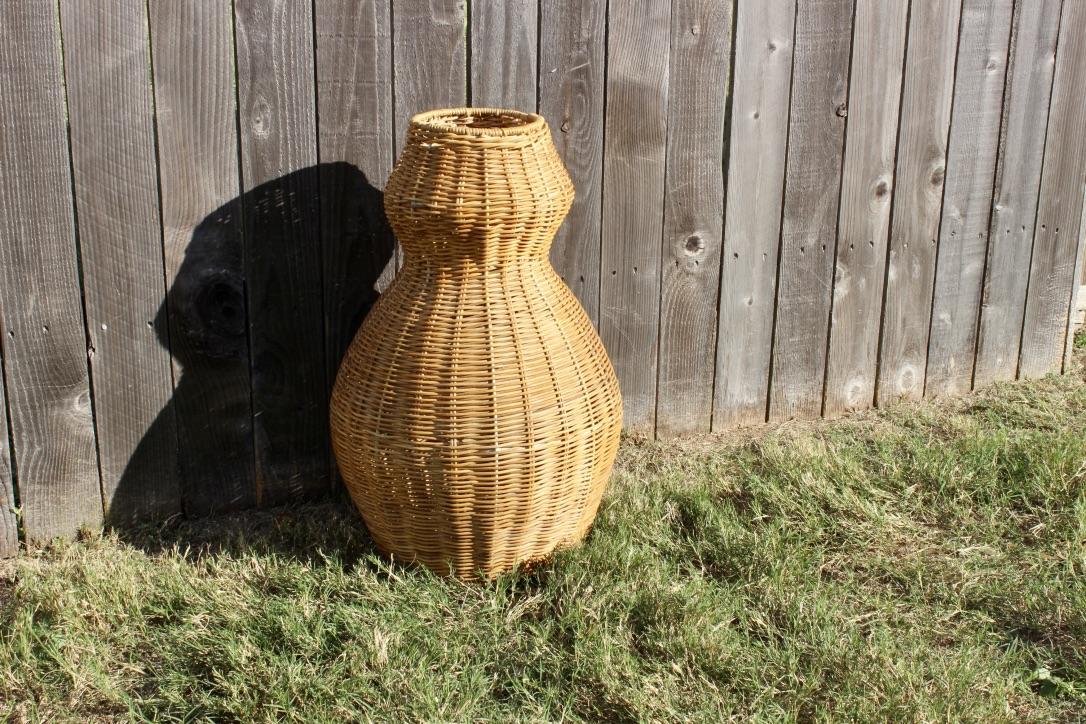 Wicker Vase -  Scavenged Vintage