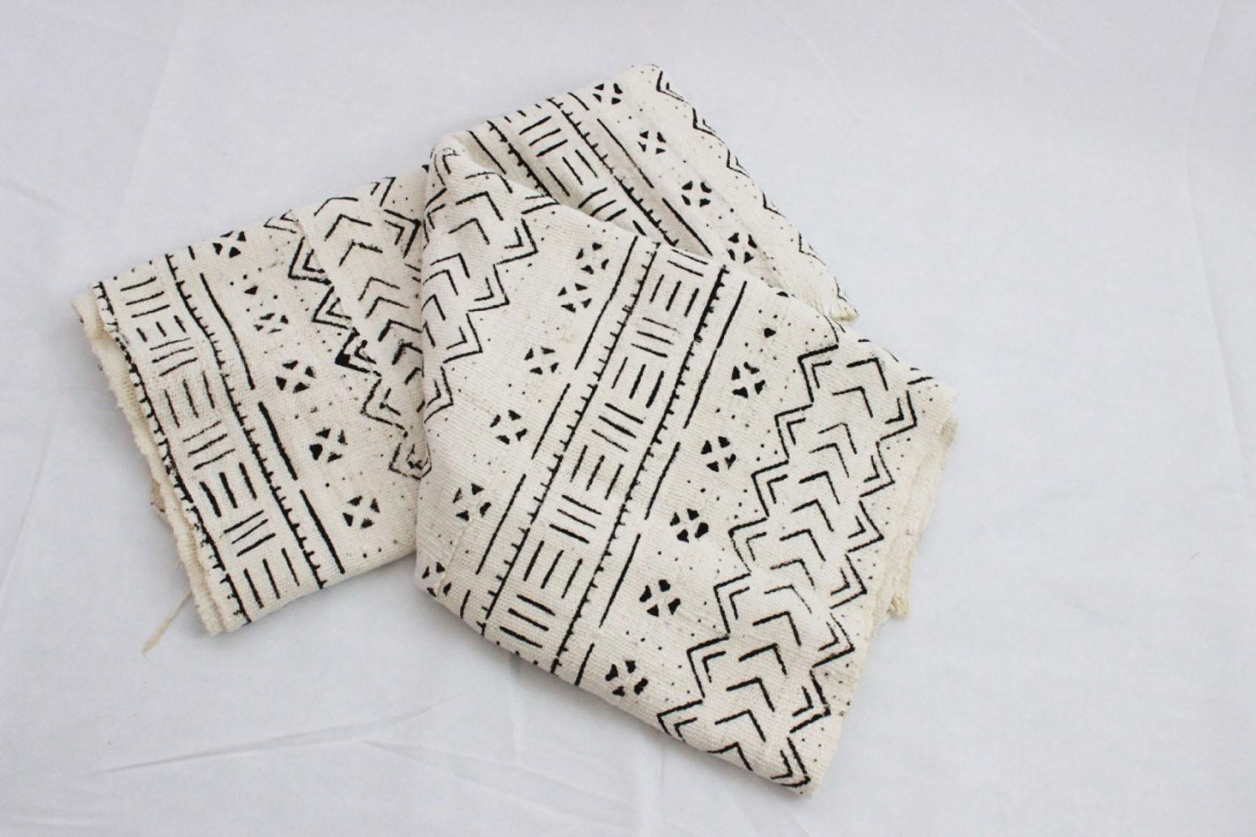 Mud Cloth Throw - Scavenged Vintage