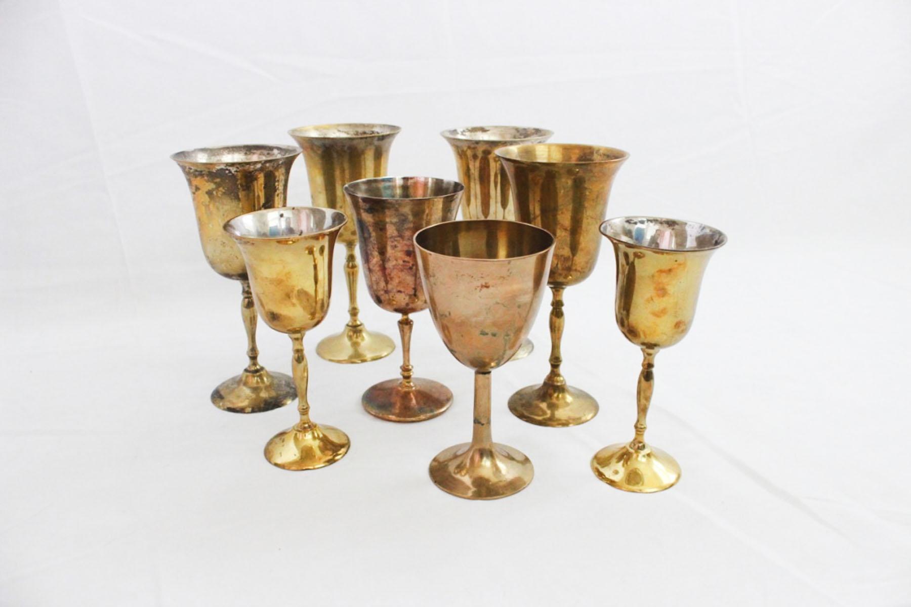 Brass Goblets Scavenged Vintage