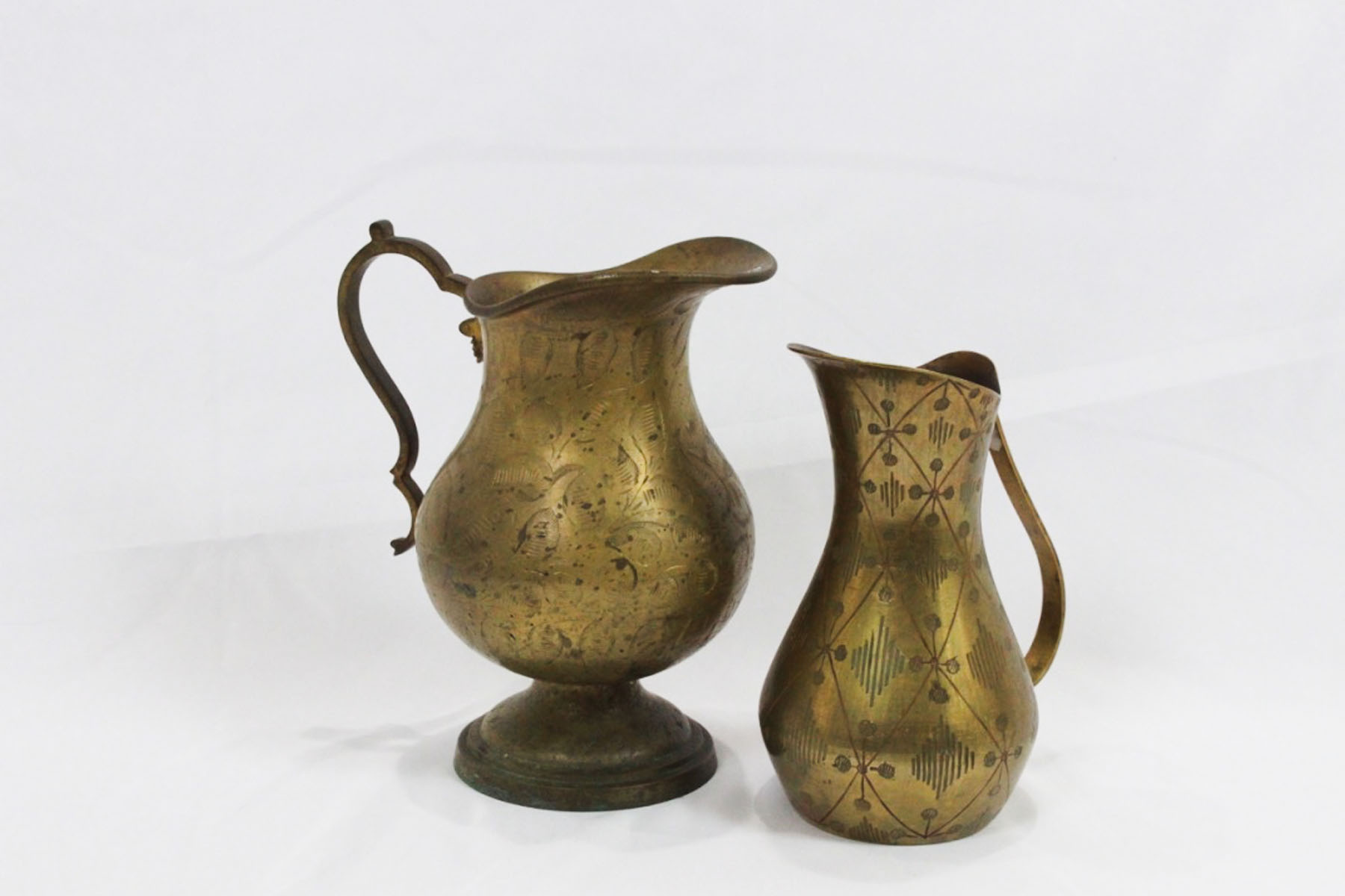 Brass Pitchers - Scavenged Vintage