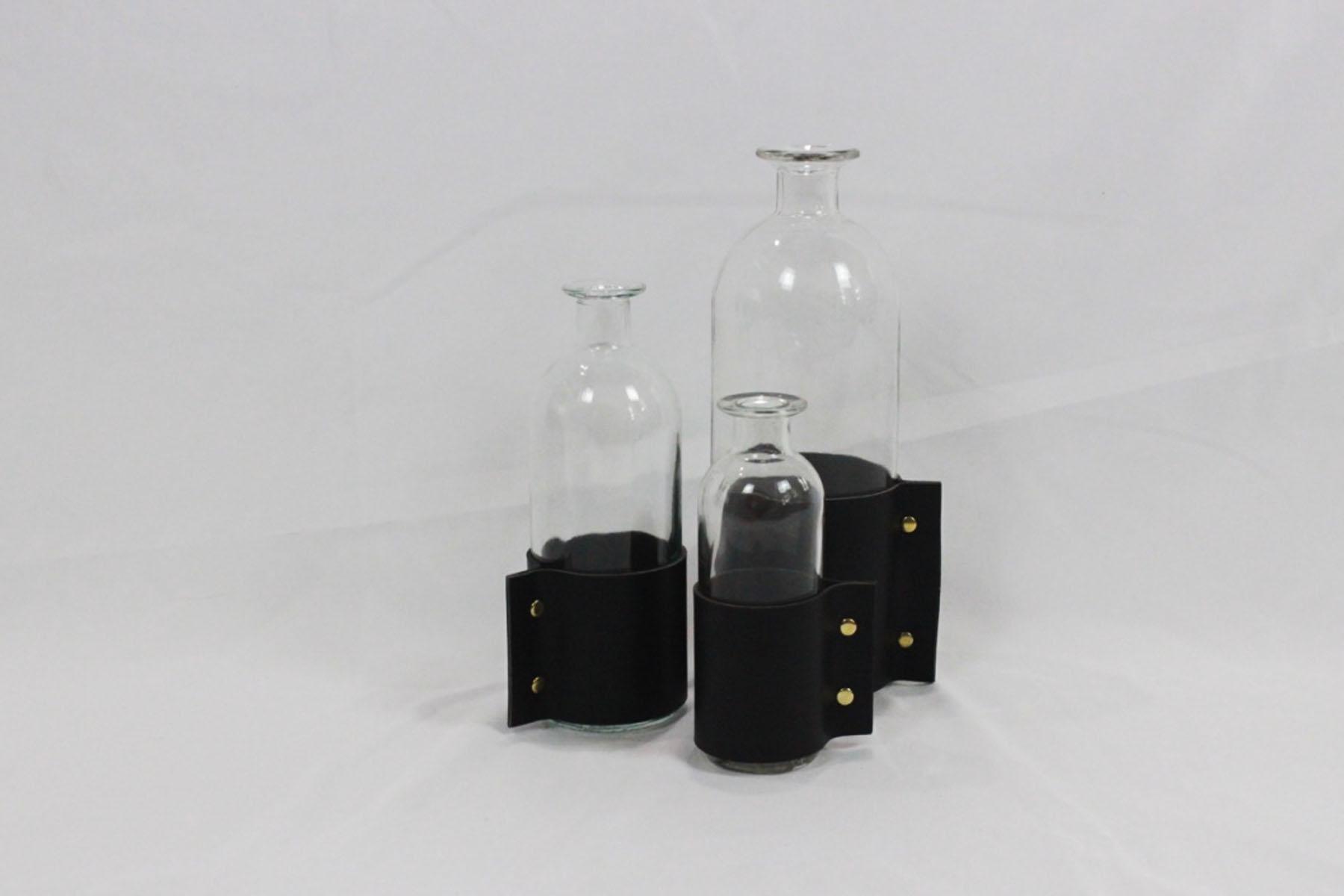 Black Leather Vases - Scavenged Vintage.jpg