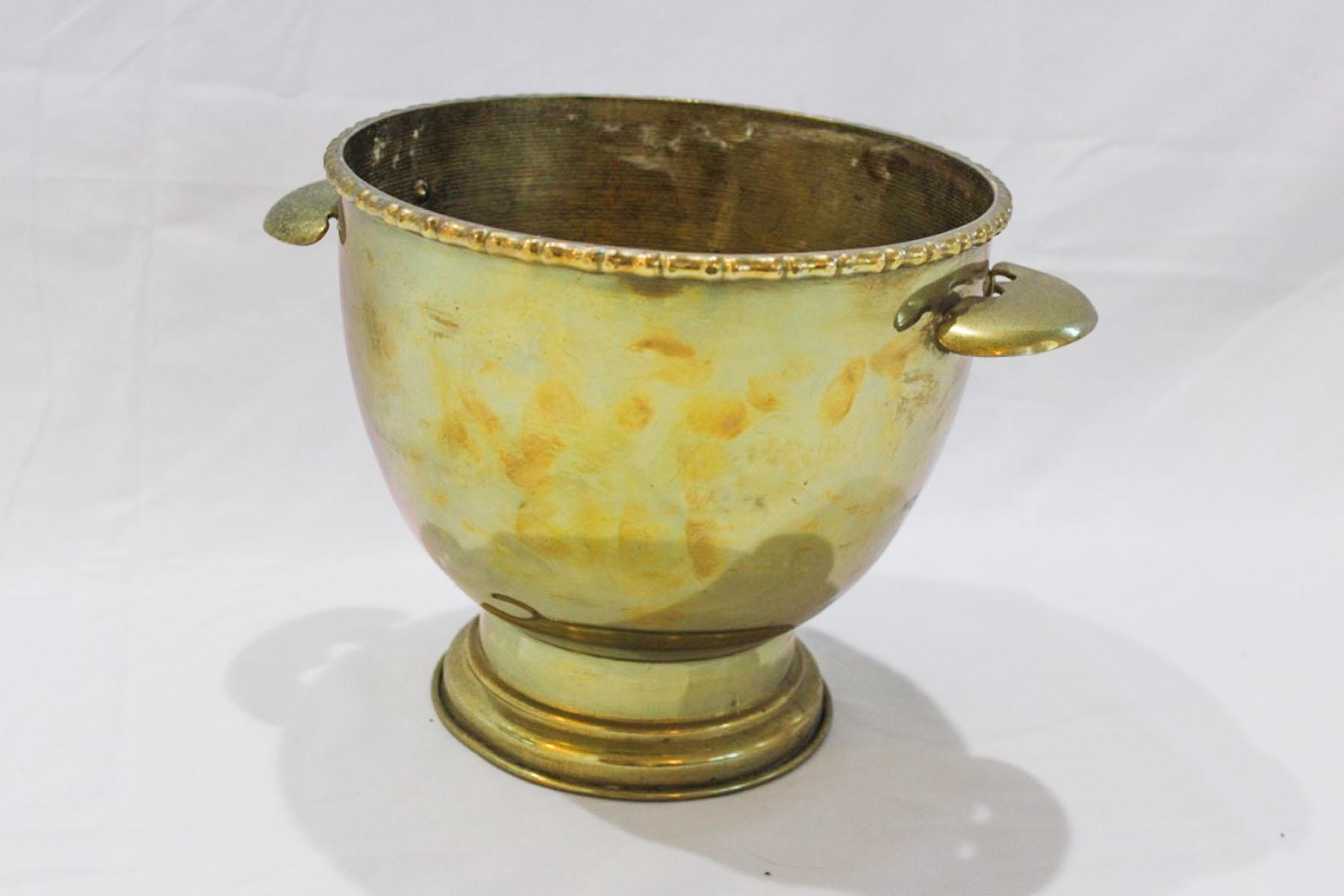 Brass Champagne Bucket - Scavenged Vintage Rentals