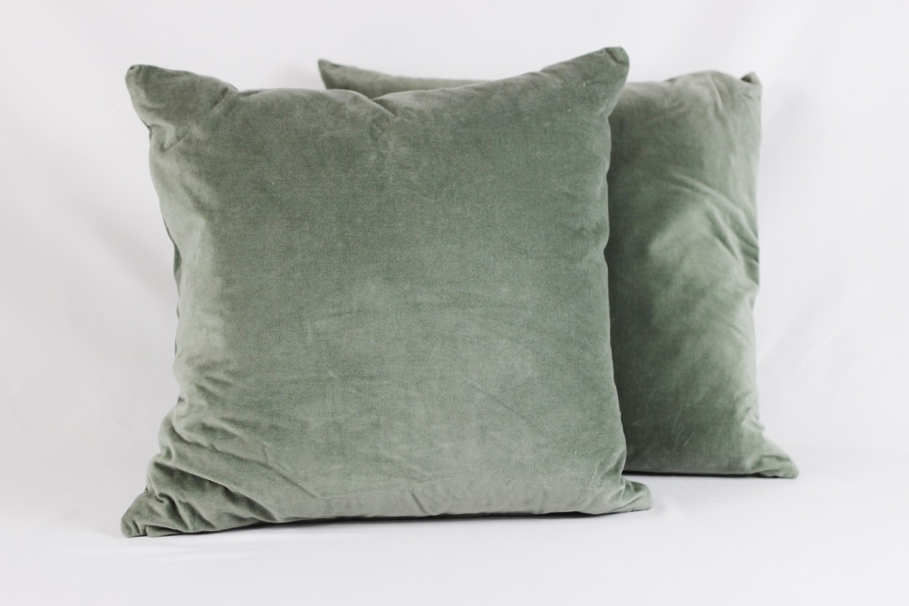 Sage Green Velvet Pillows - Scavenged Vintage Rentals.jpg