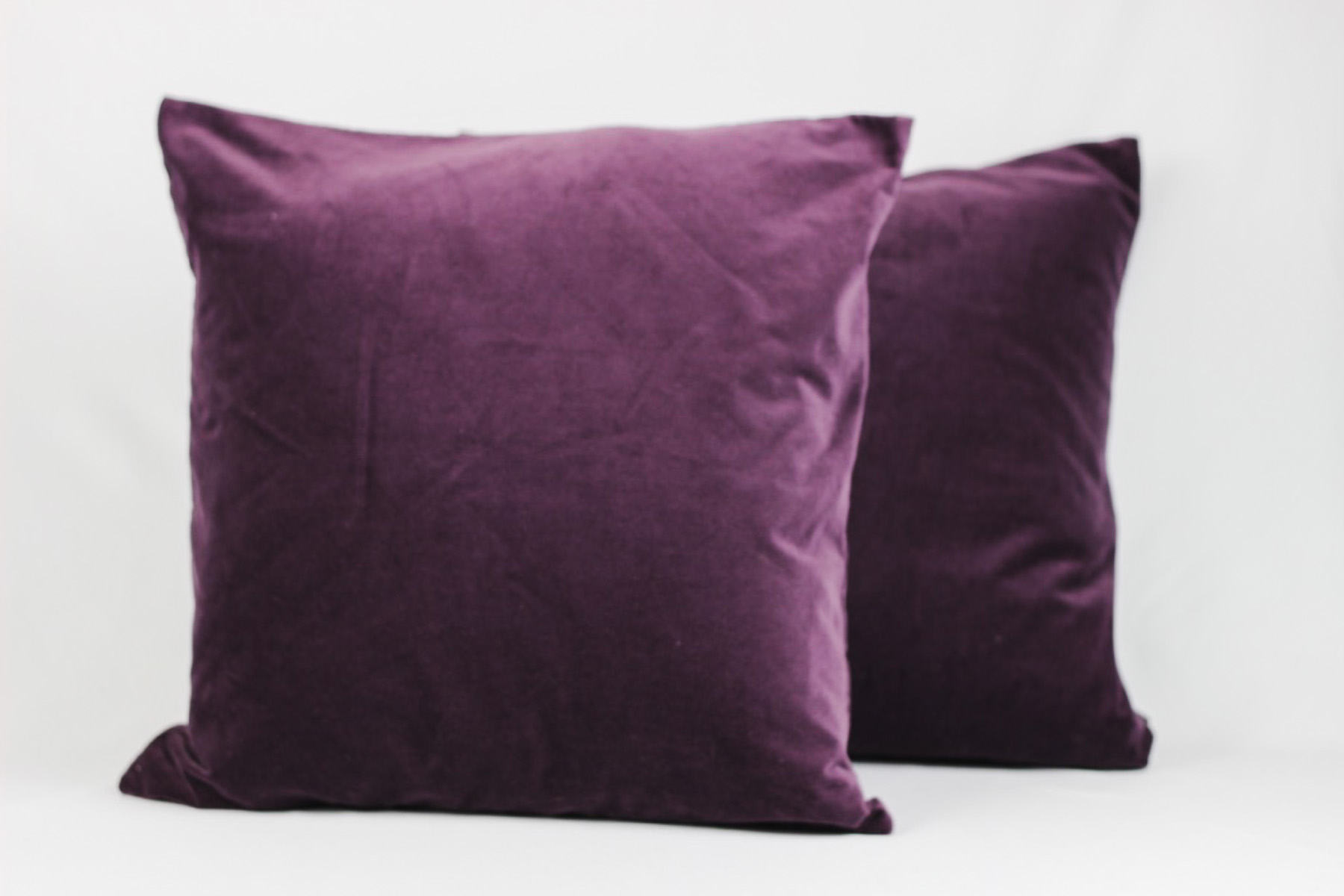 Purple Velvet Pillows - Scavenged Vintage Rentals