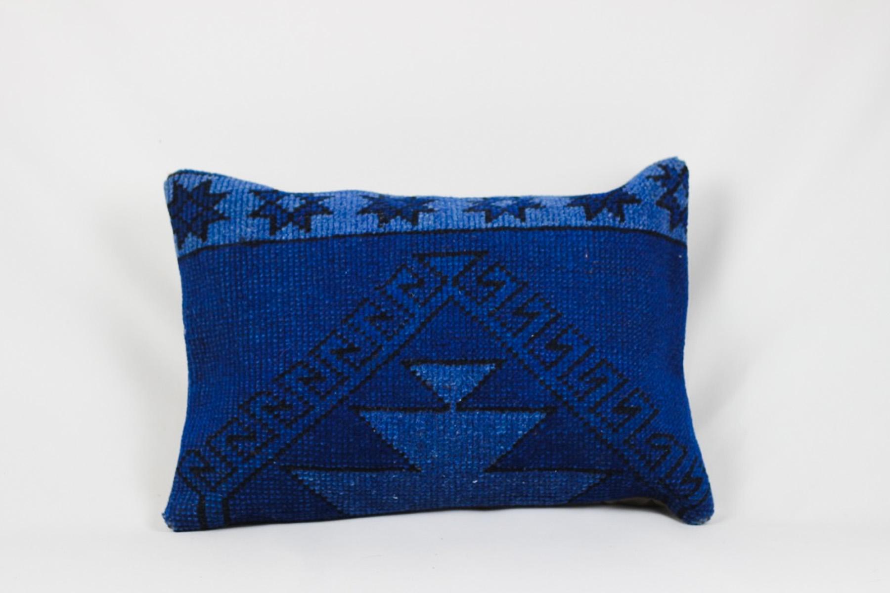 Blue Killim Pillow - Scavenged Vintage Rentals