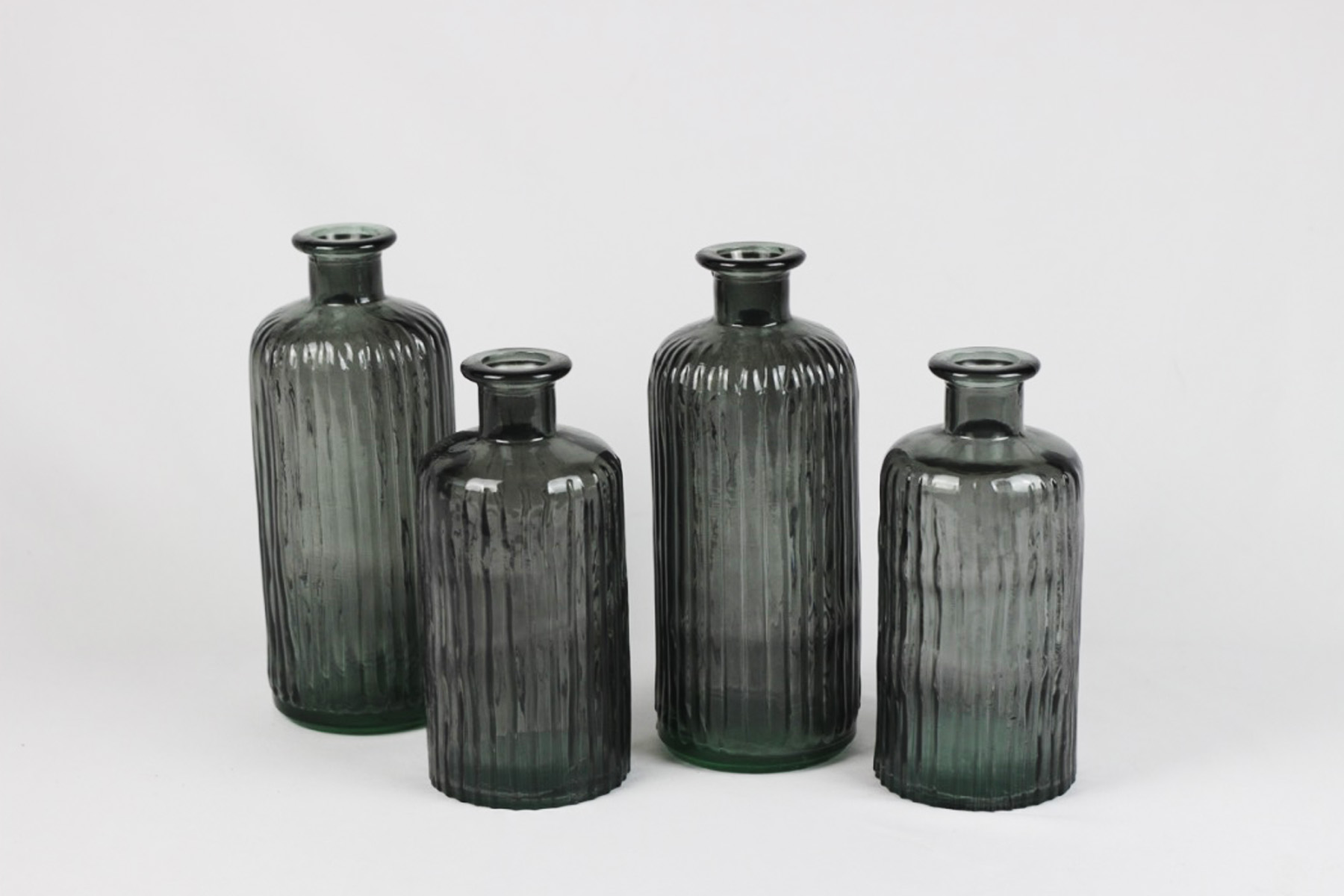Blue Glass Bottles - Wedding Rentals Austin