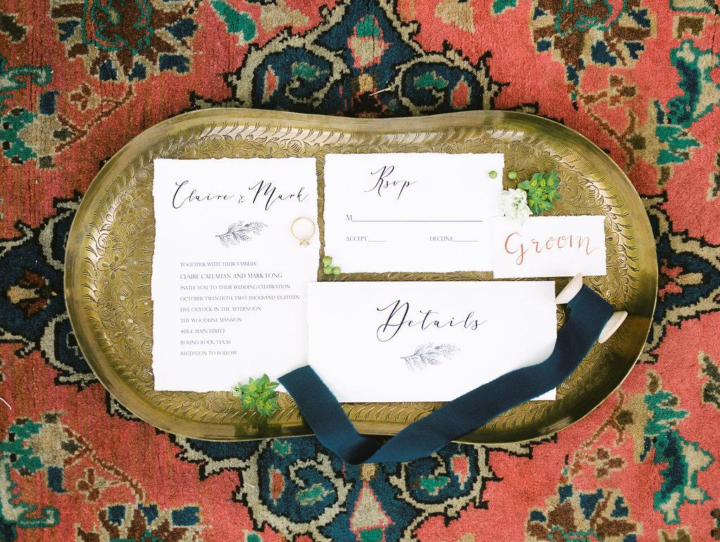 Modern Terracotta Wedding Invitation Suite