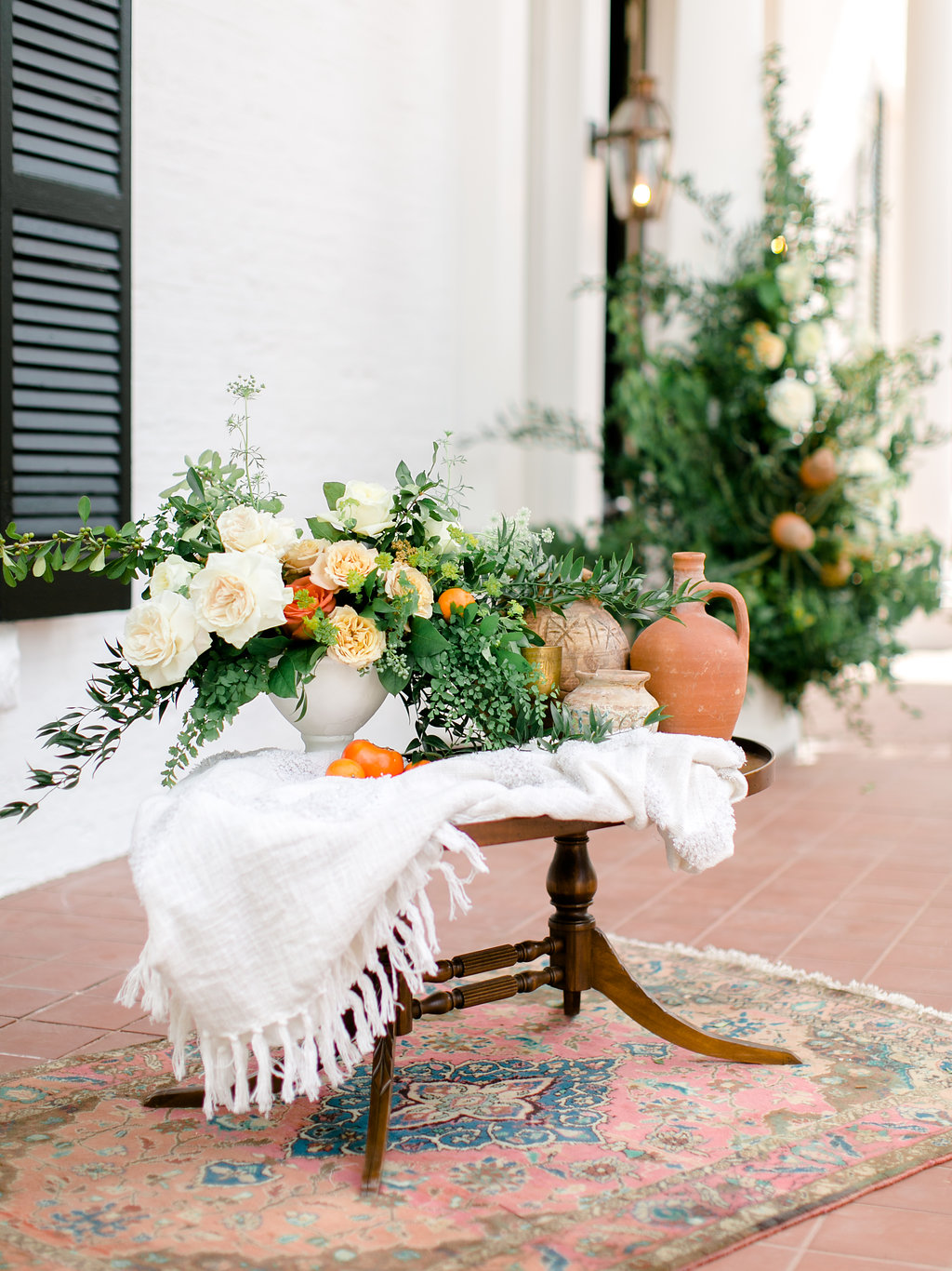 Modern Terracotta Wedding Welcome Table