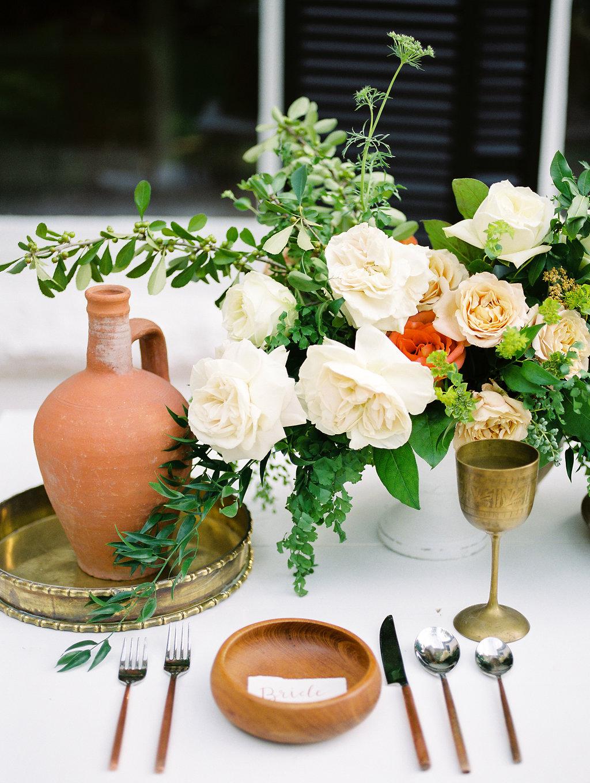 Modern Terracotta Wedding Tablescape