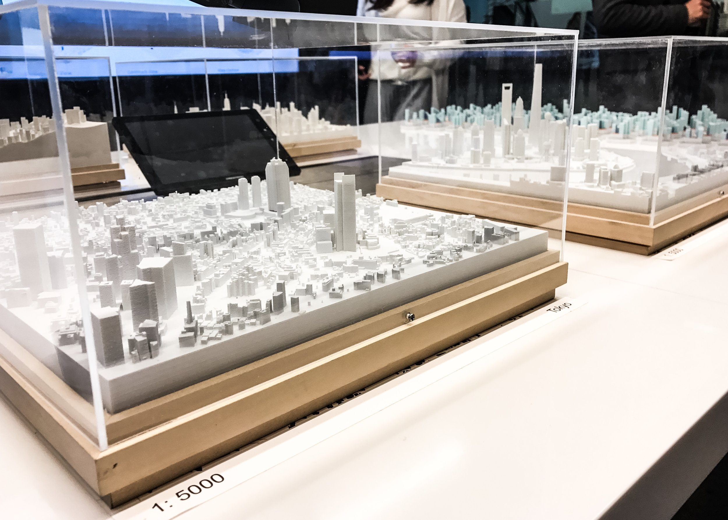 Skyline 1:5000 model study of four different cities.