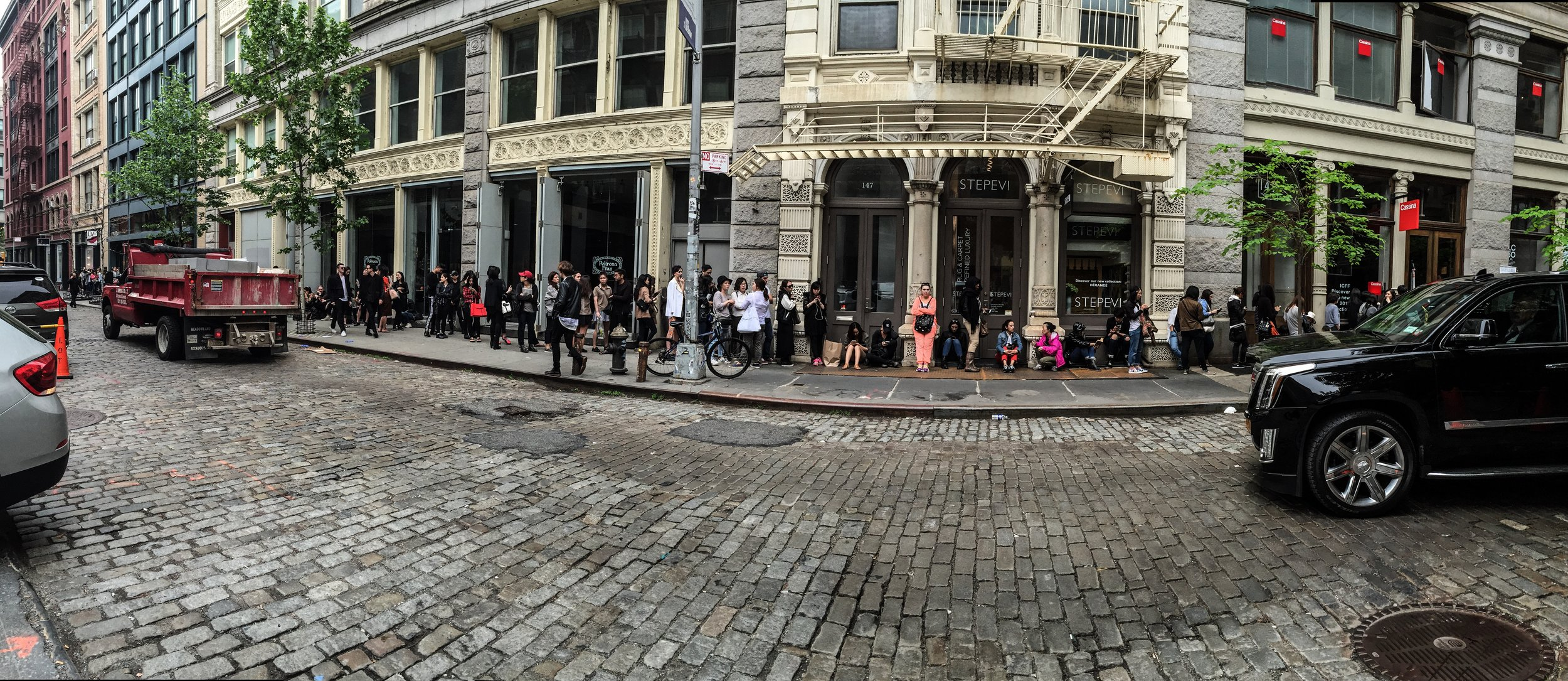 Queuing; A favourite American pastime.