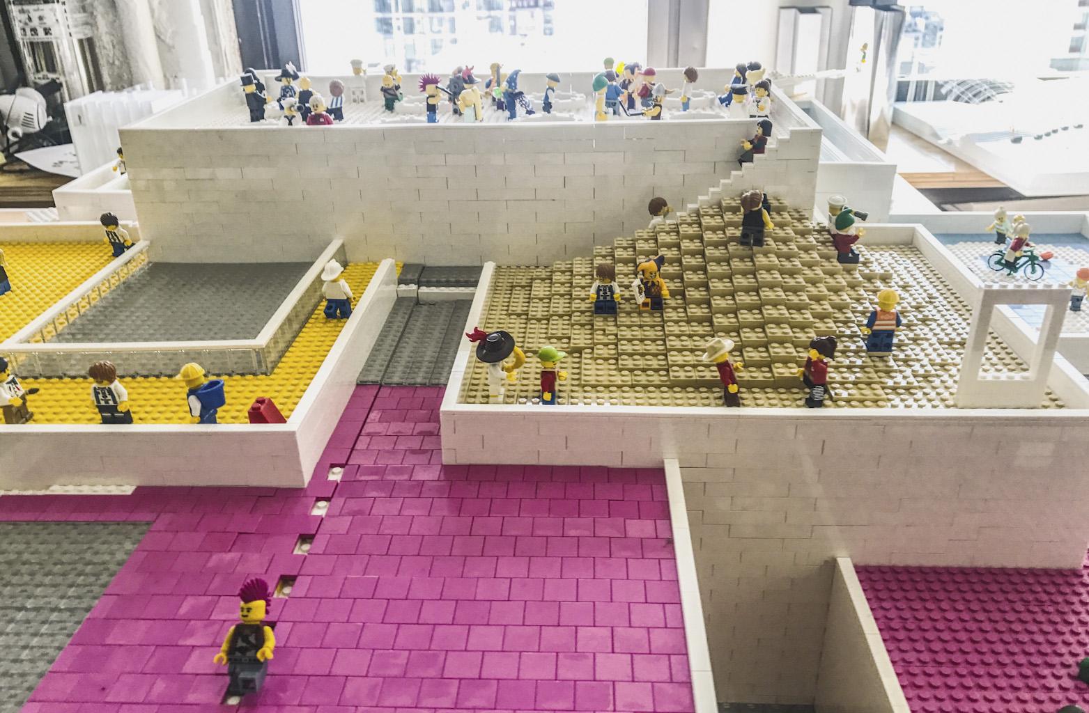 BIG's lego house model, in Billund Denmark, expected completion September 2017.