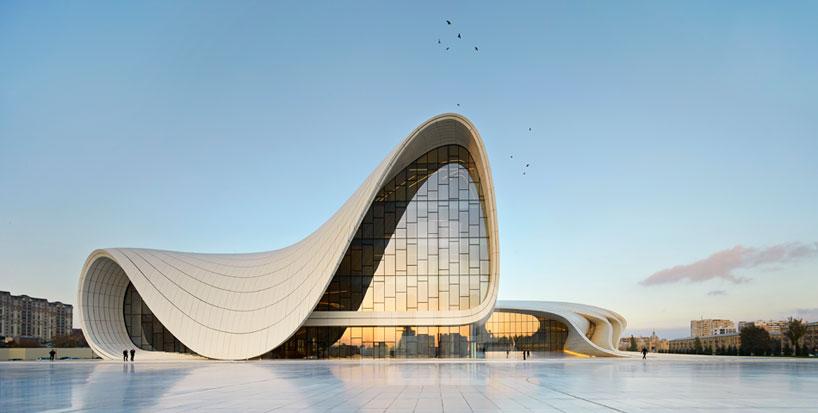 Heydar Aliev Center in Baku, Azerbaijan, completed 2012.