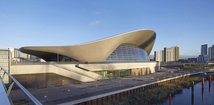 London Aquatic Center, completed 2012, opened to the public in 2014. (Did have issues during the olympics with some seats not being able to see the pool...)