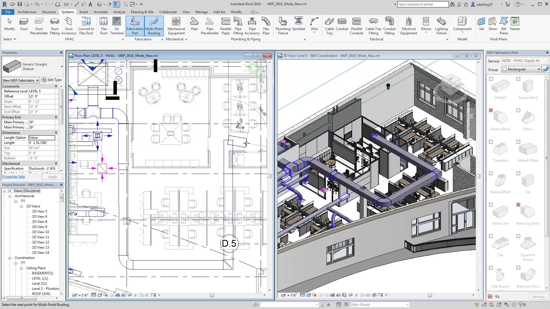 Designers can draw and model different components in 2D or 3D enabling them to see their designs in real time.