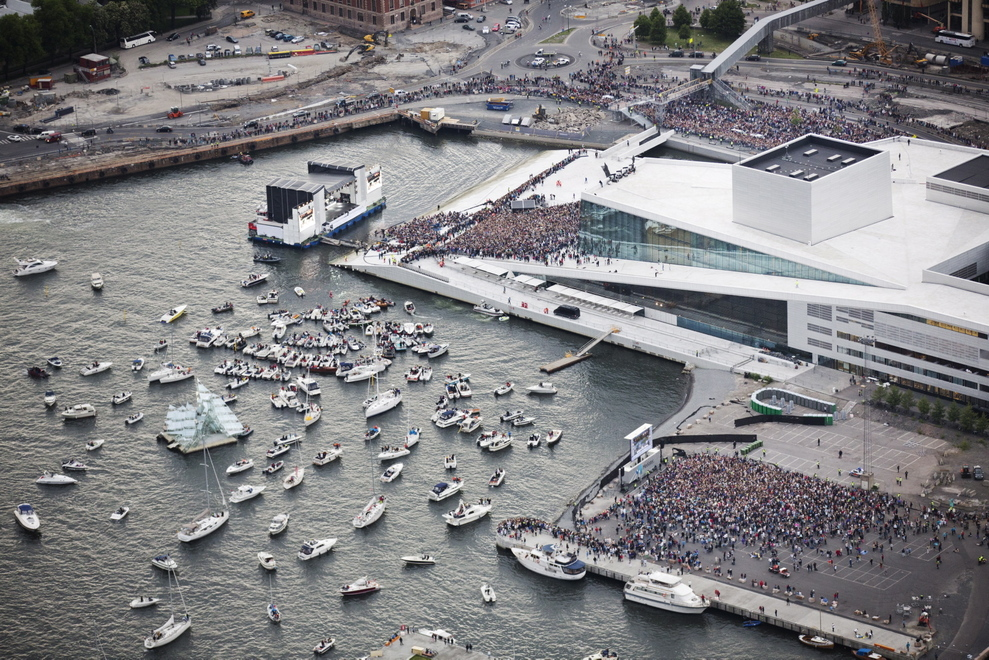 Justin Bieber performed here back in 2012 and is securely surrounded by a body of water to distance him from his CRAZY fans.