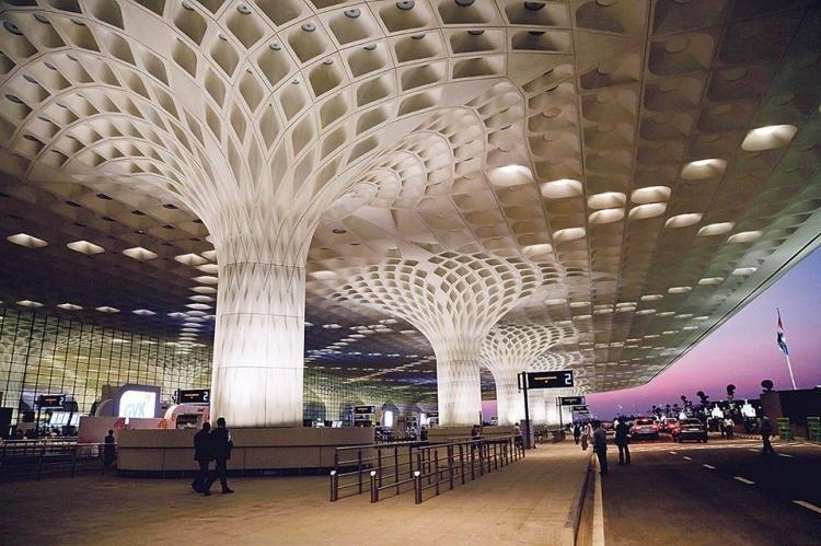 Chhatrapati Shivaji International Airport, Mumbai, India, completed in 2014.