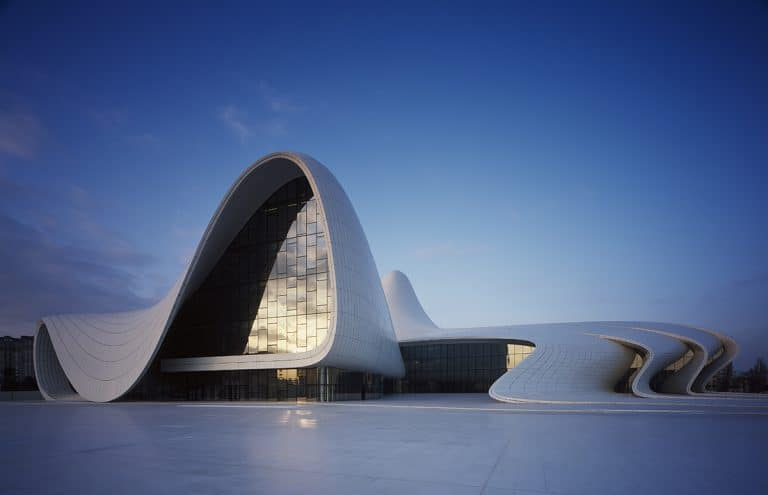 Zaha Hadid's Heydar Aliyev Center, Baku, Azerbaijan